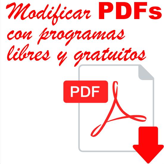 Como modificar un PDF con programas libres