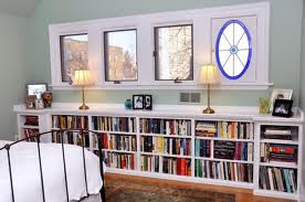 bookcases in the master bedroom low height bookcases within reach