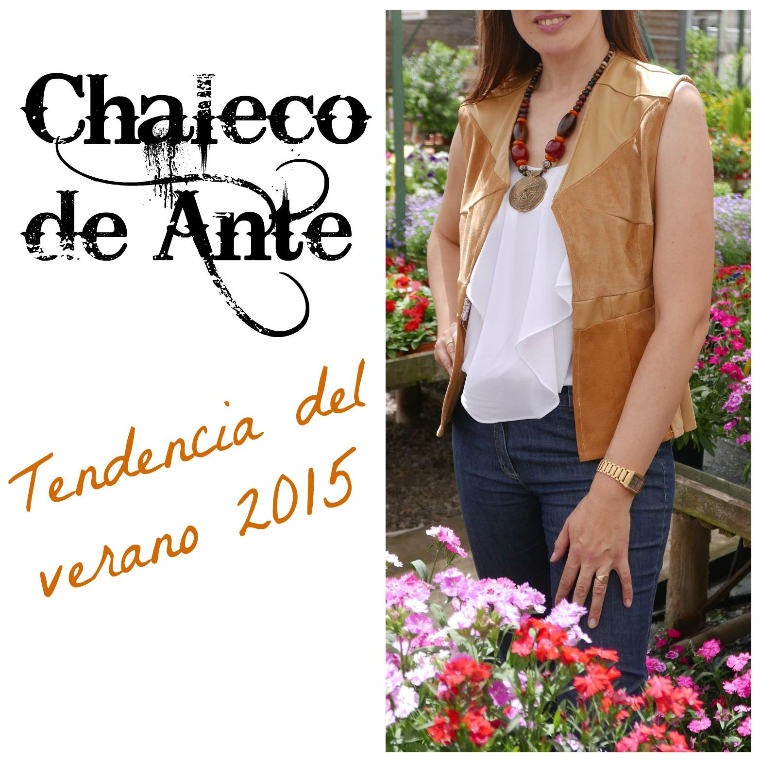 Chaleco de ante tendencia del verano 2015 ~ Moda en la Costura
