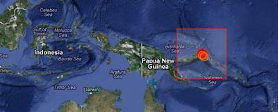 TERREMOTO 6,0 GRADOS PAPUA NUEVA GUINEA, 15 DE NOVIEMBRE 2012