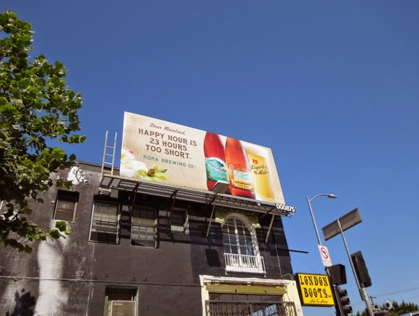 Happy hour is 23 hours too short Kona Brewing billboard