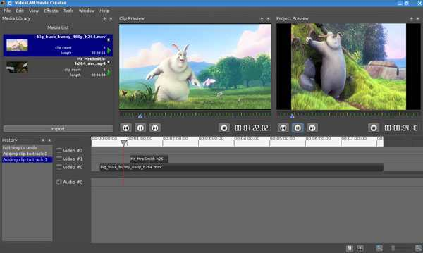 nuevo software de edición de vídeo VideoLAN Movie Creator