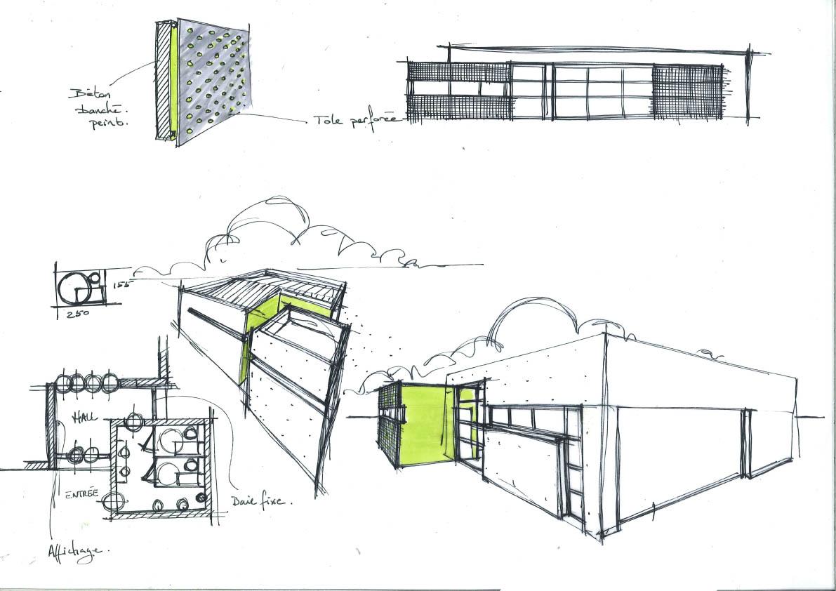 Design et architecture interieure croquis recherches for Design et architecture