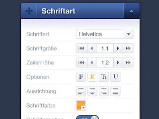 Update Font Settings Palette