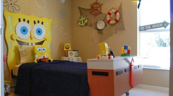 Desain Kamar Tidur Anak Tema SpongeBob