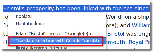how to translate a website in firefox