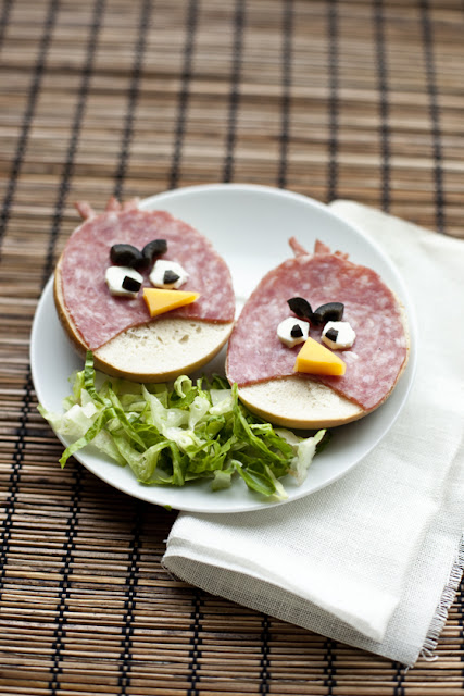 Angry Birds party ideas sandwich