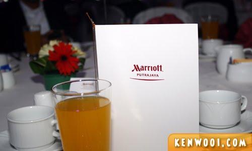 putrajaya marriott table
