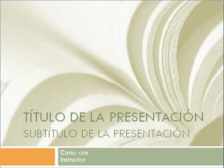 Presentación académica cursos universitarios