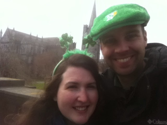 Cory and Sara at St. Patrick's Cathedral