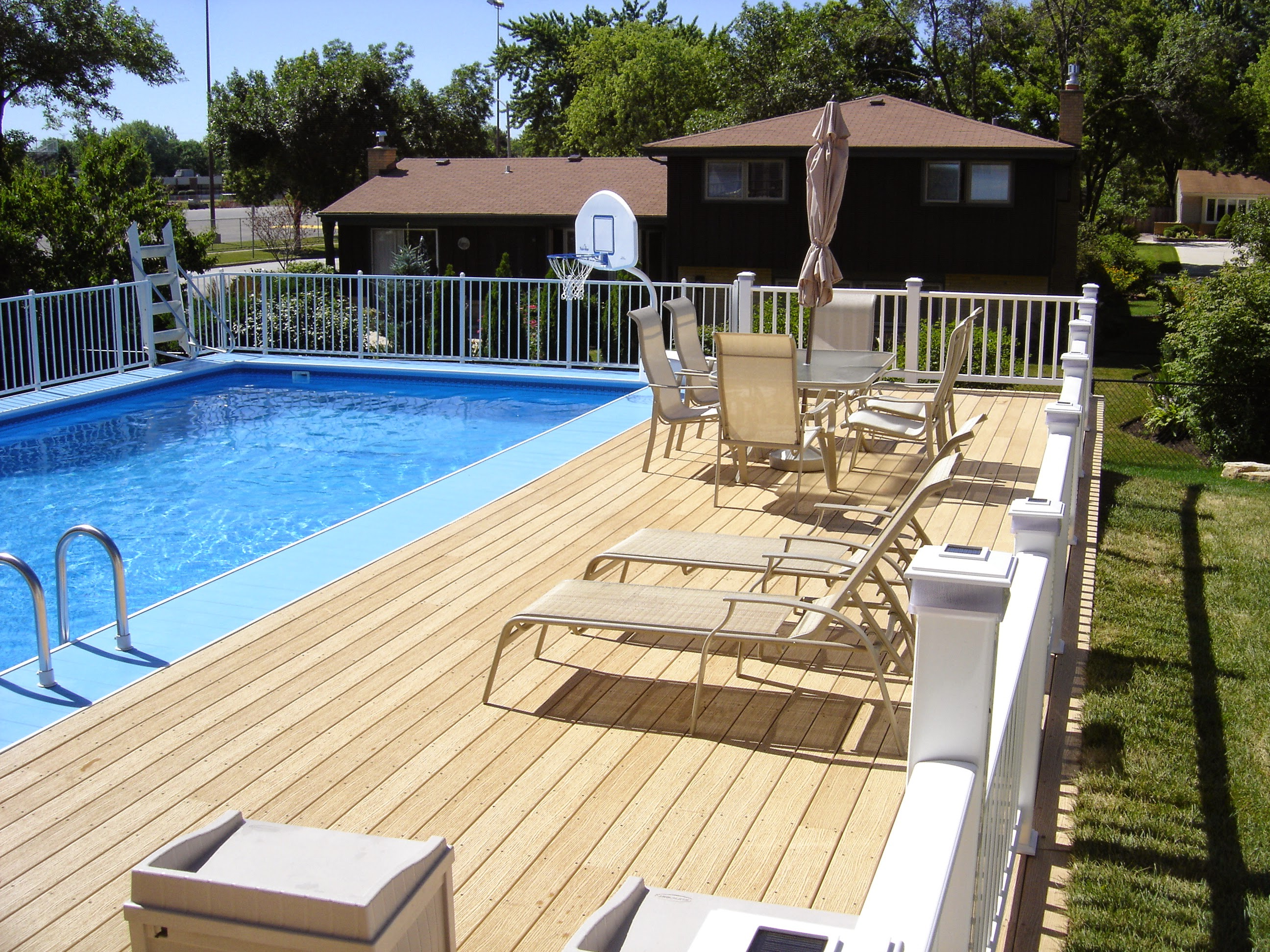 How To Choose Above Ground Pool Decks Wooden