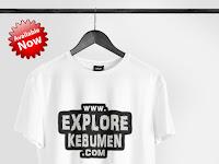Kaos Premium ExploreKebumen.com Putih