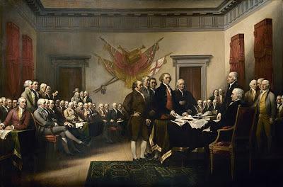 Pintura de la Declaración de Independencia del 4 de julio de 1776 obra de John Trumbull