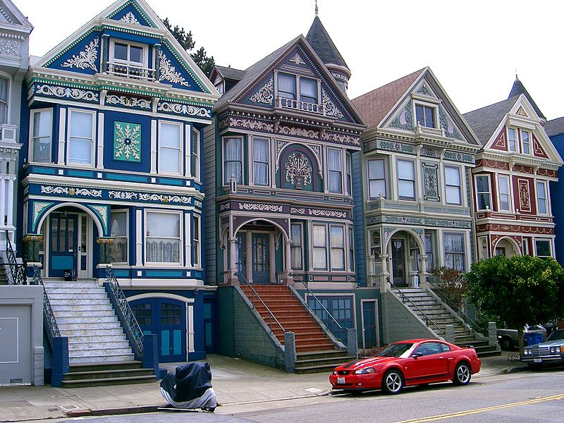 Stewart home plan design painted ladies for Houses in san francisco