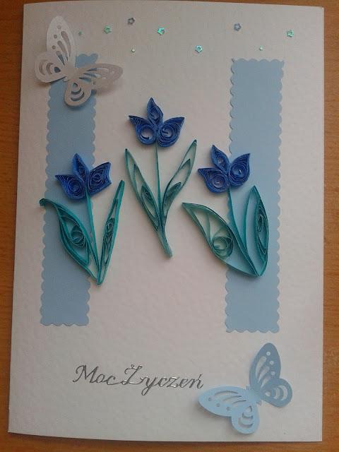 Kartka na urodziny/imieniny z kwiatkami :)