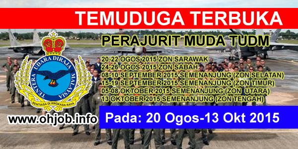 JawatanKerja Kosong Tentera Udara DiRaja Malaysia Malaysia (TUDM) logo www.ohjob.info ogos oktober 2015