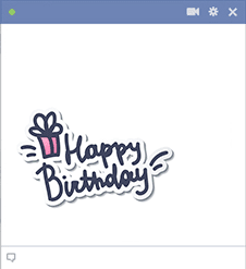 Pink Happy Birthday Facebook Sticker