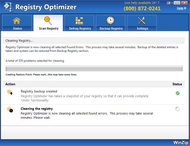 WinZip Registry Optimizer v2.0.72.3001