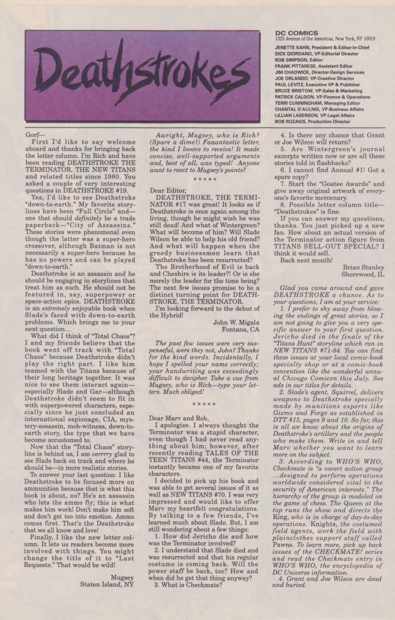 Deathstroke (1991) Issue #22 #27 - English 27