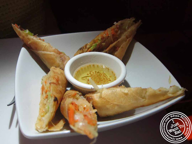 Image of Vegetable Spring Rolls at Spice, Thai restaurant in NYC, New York