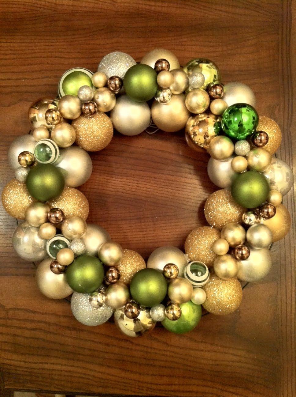 "Gratefully gorjus ""ballin diy ornament ball wreath"