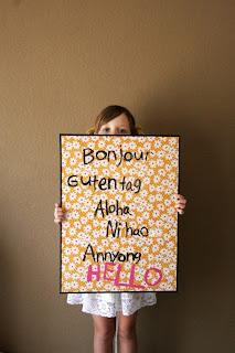 Bonjour Gutentag Aloha Ni hao Annyong Hello