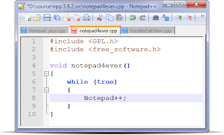 Notepad ++ Simple HTML Editor