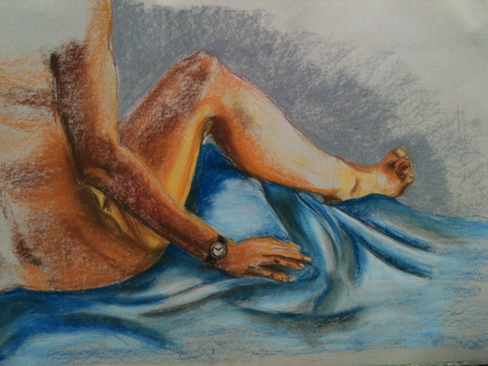 A Little Art From My Hands Drawing With Soft Pastel