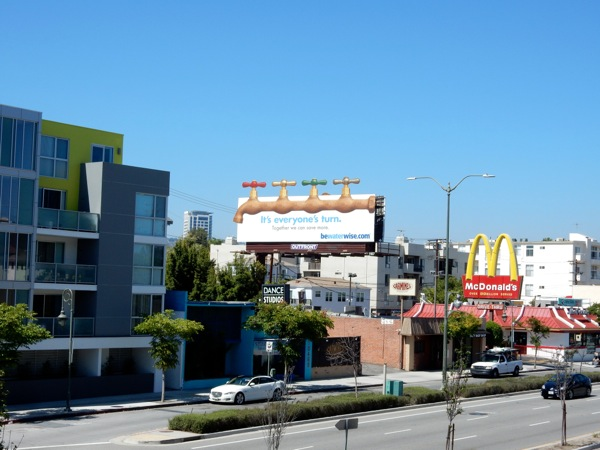 Special Be water wise faucets billboard