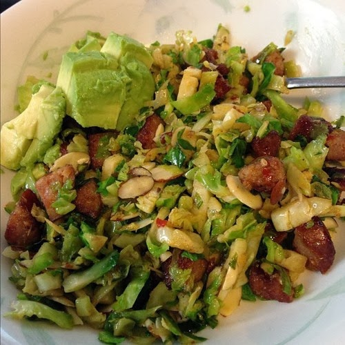 Worthy Pause: Paleo Chorizo Brussels Sprouts Slaw