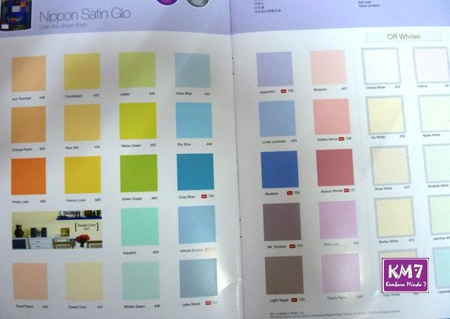 Ingat senang ker nak pilih warna cat dalam rumah ni?