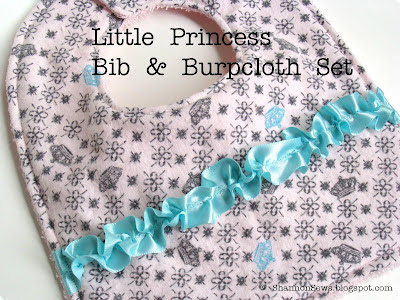 handmade designer baby bib and burp cloth sets