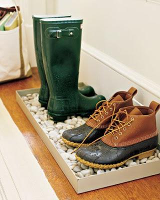 Idea para dejar zapatos y botas los días de lluvia
