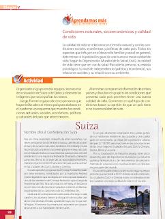 Países y calidad de vida - Geografía Bloque 5to 2014-2015