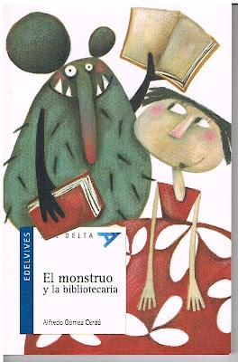 monstruo y bibliotecaria