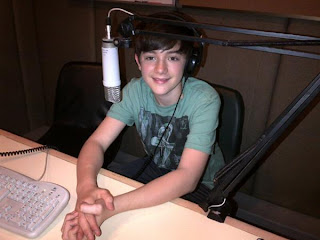 Greyson on air with a Bangkok radio station in Thailand 2012