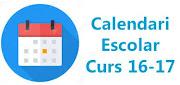 Calendari Escolar Curs 2016-17