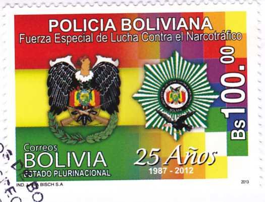 Sellos de bolivia policia boliviana for Oficina policia nacional