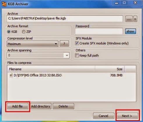 Kompres File 1 GB Menjadi 10 MB Dengan KBG Archiver (Alternatif WinRAR)