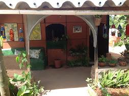 Frente da casa ecológica
