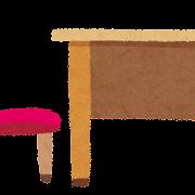机と椅子のイラスト