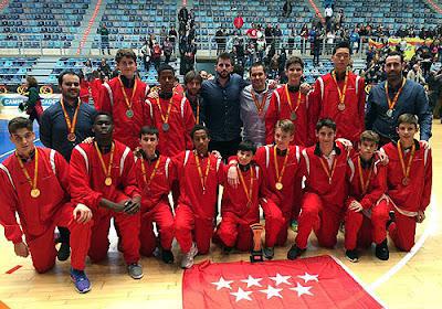 Baloncesto selección Madrid Infantil campeona de España 2015