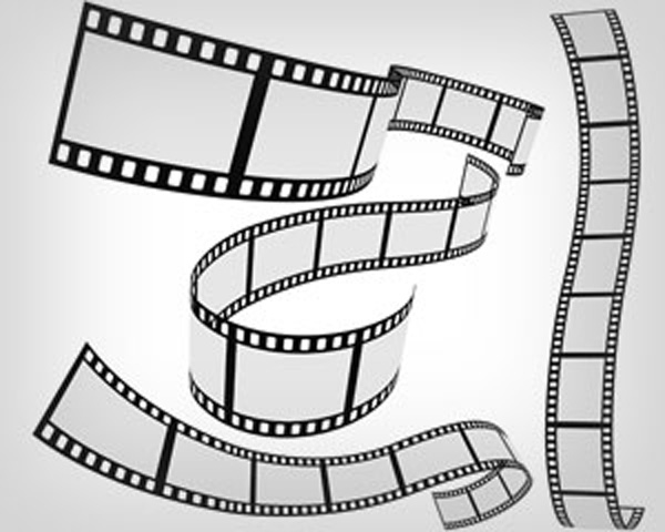 motion 4 templates free download - free vector vector film strip 4 roll set
