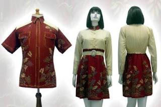 batik+wanita DRESS BATIK MODERN TREND 2013 TERBARU