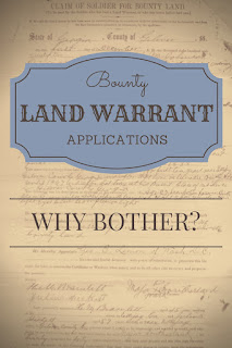 Bounty Land Warrant Applications: Why Bother?