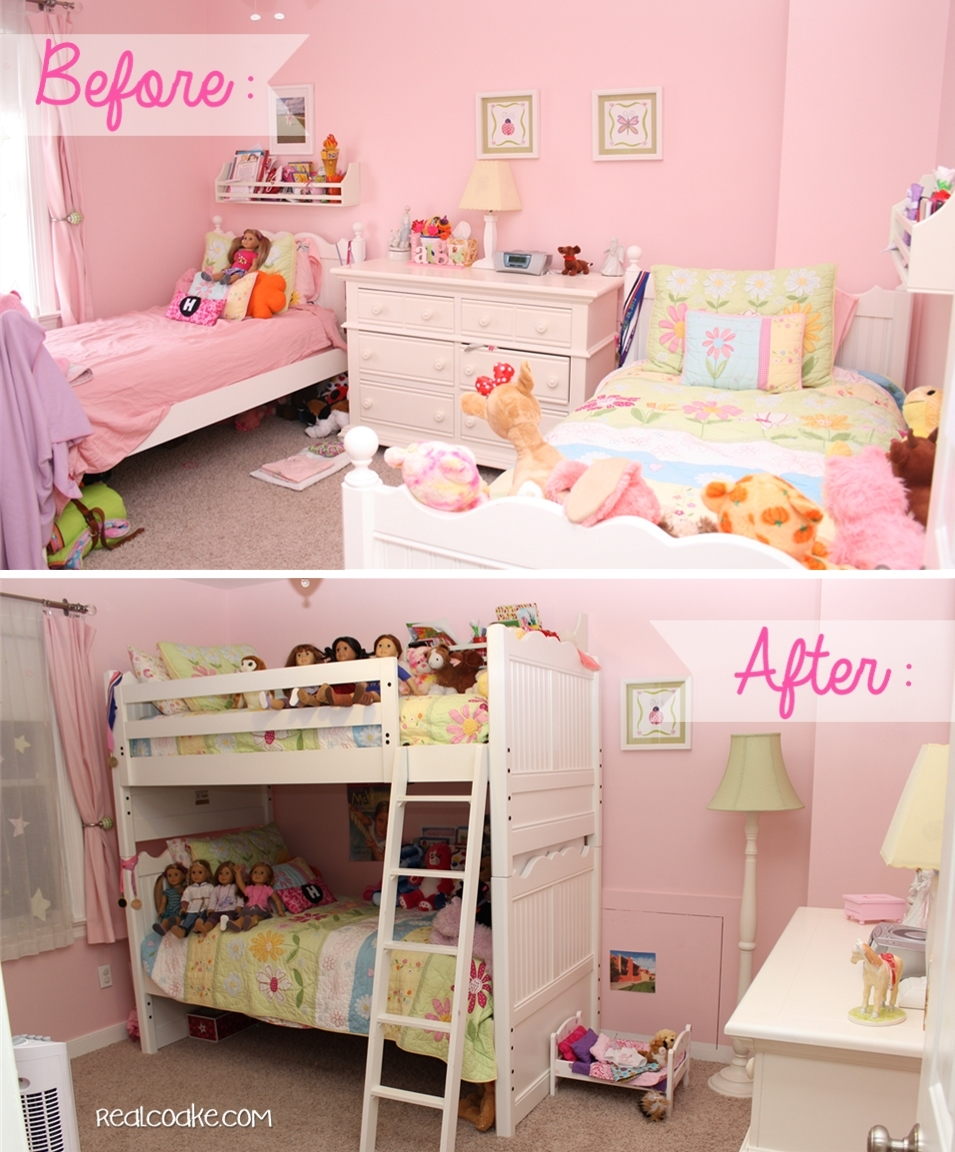 Bedroom ideas for girls with bunk beds - Things Are A Moving Girls Bedroom Ideas From Www Realcoake Com