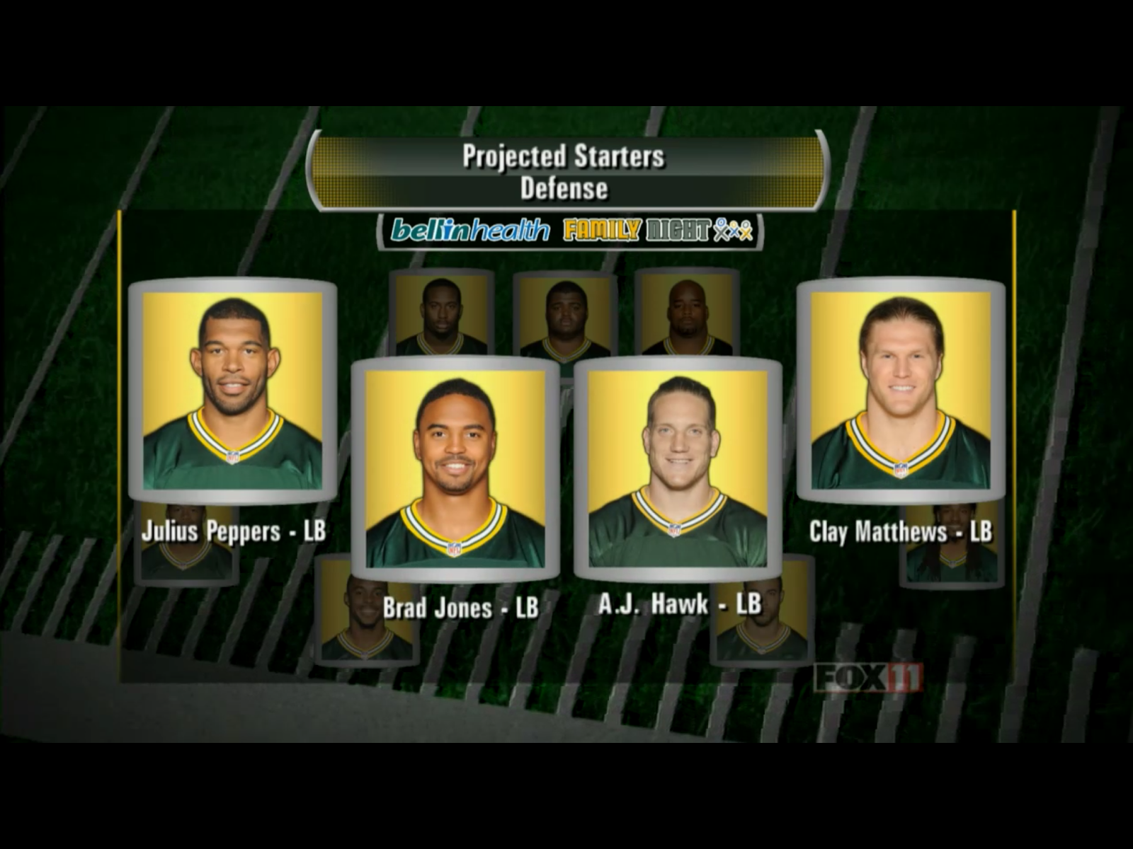 Green Bay Packers 2014 starting linebackers