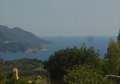 Pelekas beach panorama