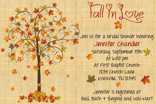 Autumn Bridal Shower Invitations