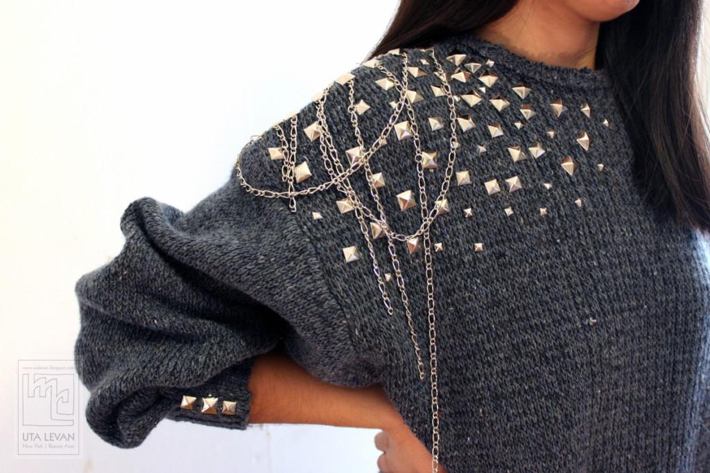 Как украсить свитер своими руками фото